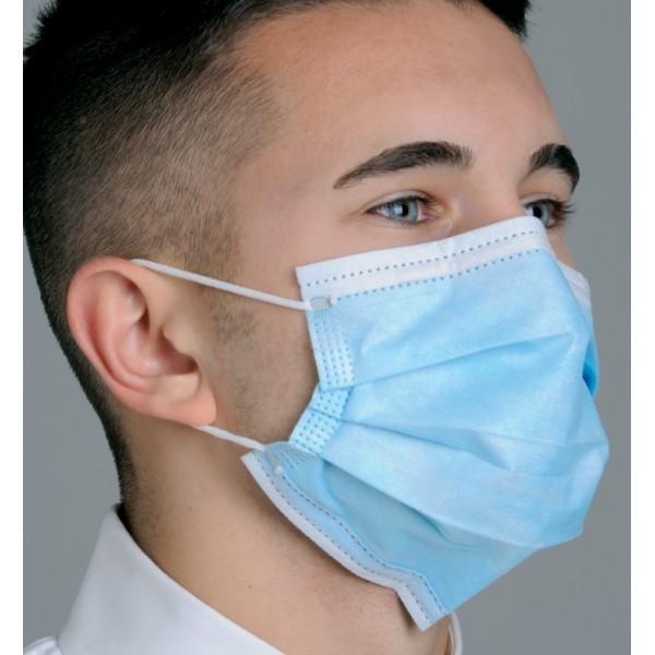 "Mask pleated Diffuser"" Anti-fog Dual Fit Face - Dental Ear-loop"