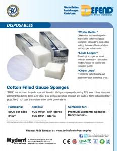 Cotton Filled Gauze Sponges