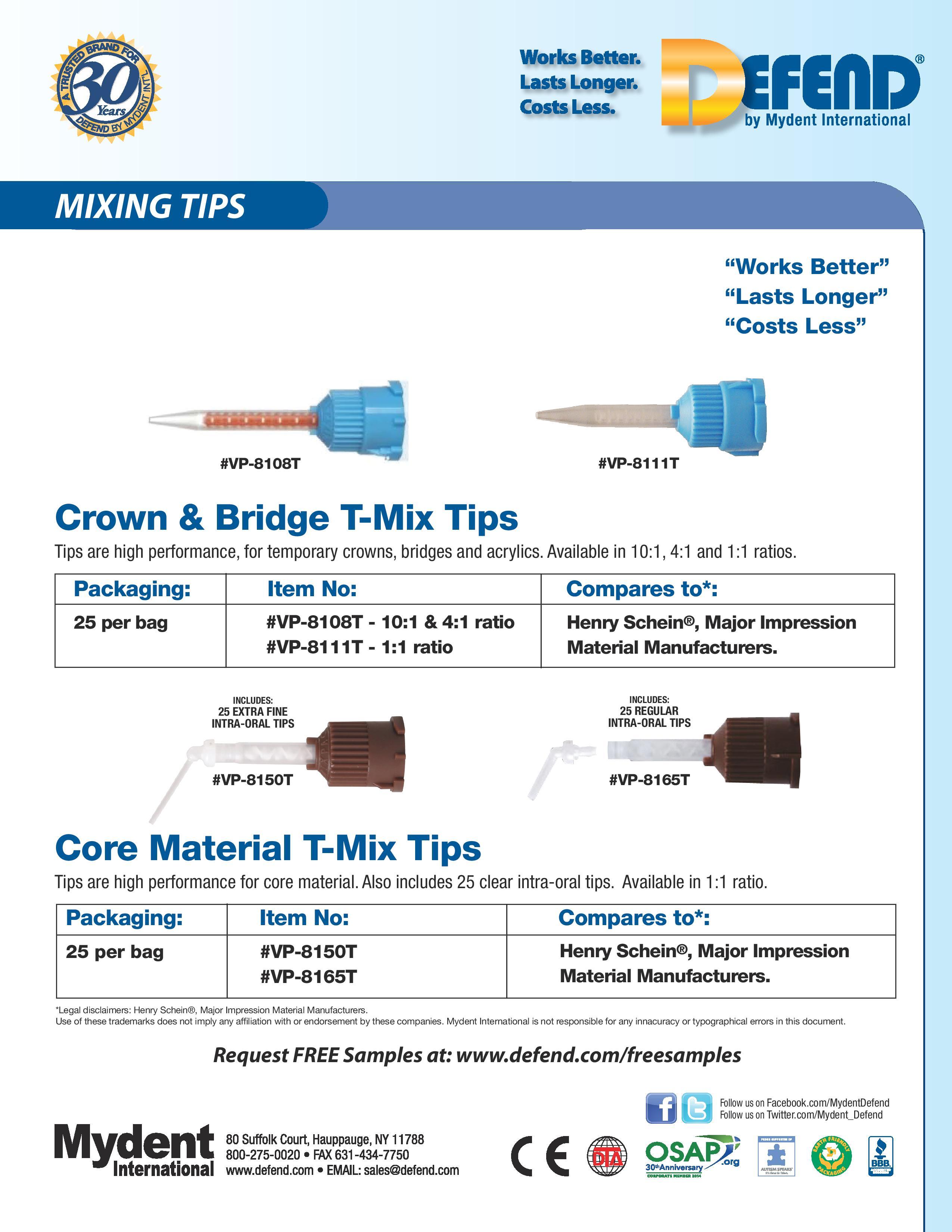 Crown&Bridge - Core Material T-Mix Tips