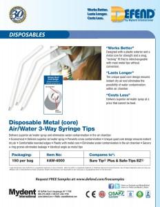 Defend Air-Water 3-Way Syringe Tips