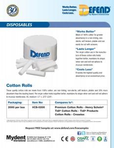 Defend Cotton Rolls