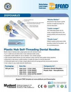 Defend Dental Needles