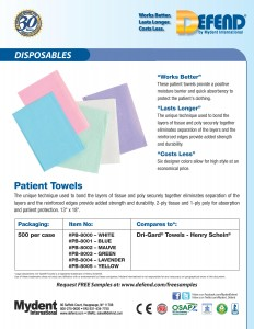 Defend Patient Towels - PB-8000