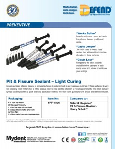 Defend Pit & Fissure Sealant - Light Cure