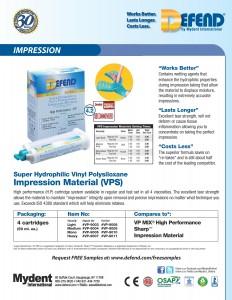 Defend VPS Impression Material