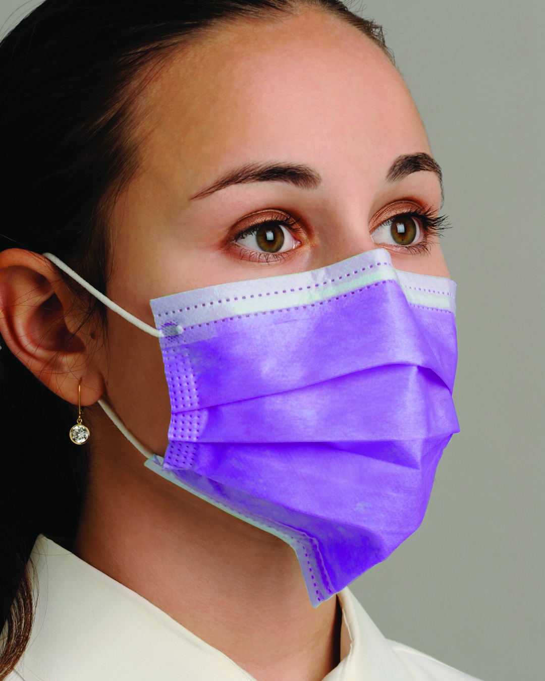 Face Dual - Ear-loop Dental pleated Fit Mask Breathe E-z""