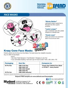 Krazy Cone Face Masks