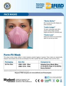 MK-1206-1216 Form Fit Face Mask