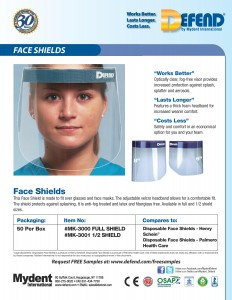 MK-3000-MK-3001 Face Shields