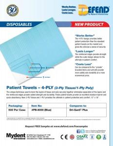 Patient Towels 4 PLY