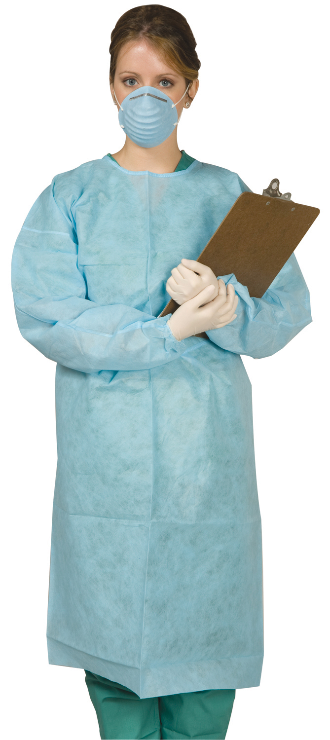 Disposable Tie Back Protective Gown Dental Supplies