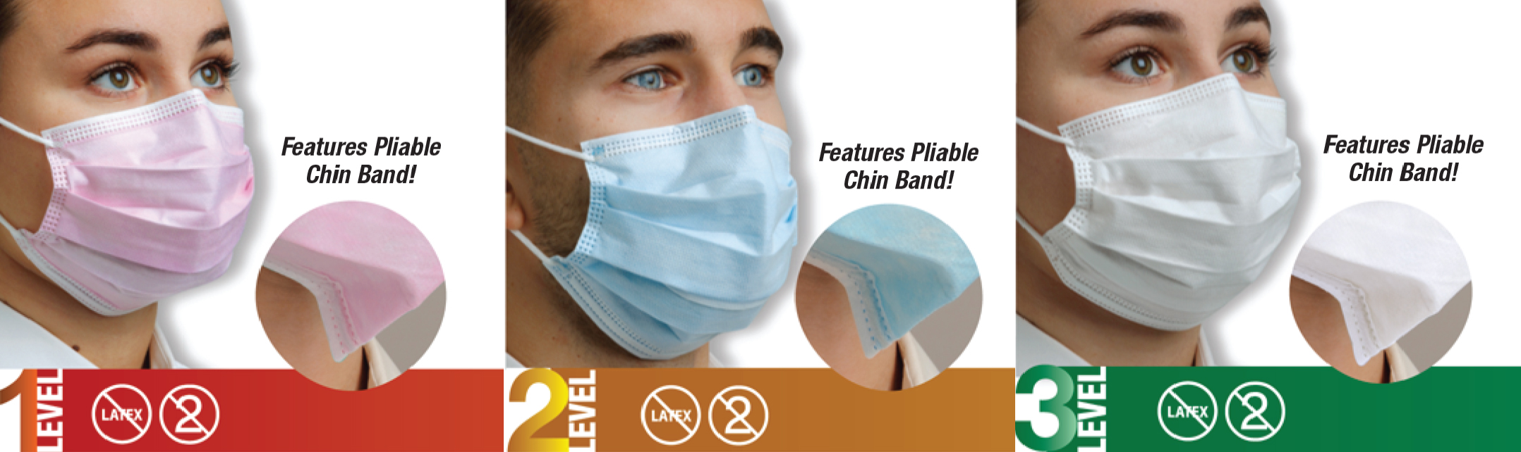 disposable face mask level 3